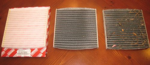 Clean, Dirty, and Filthy Cabin Air Filters